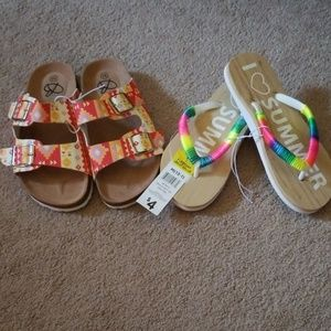Other - NWT two summer  girls shoes size 13-1